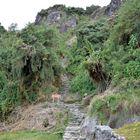 Der Abstieg nach Phuyupatamarca beim Inka-Trail