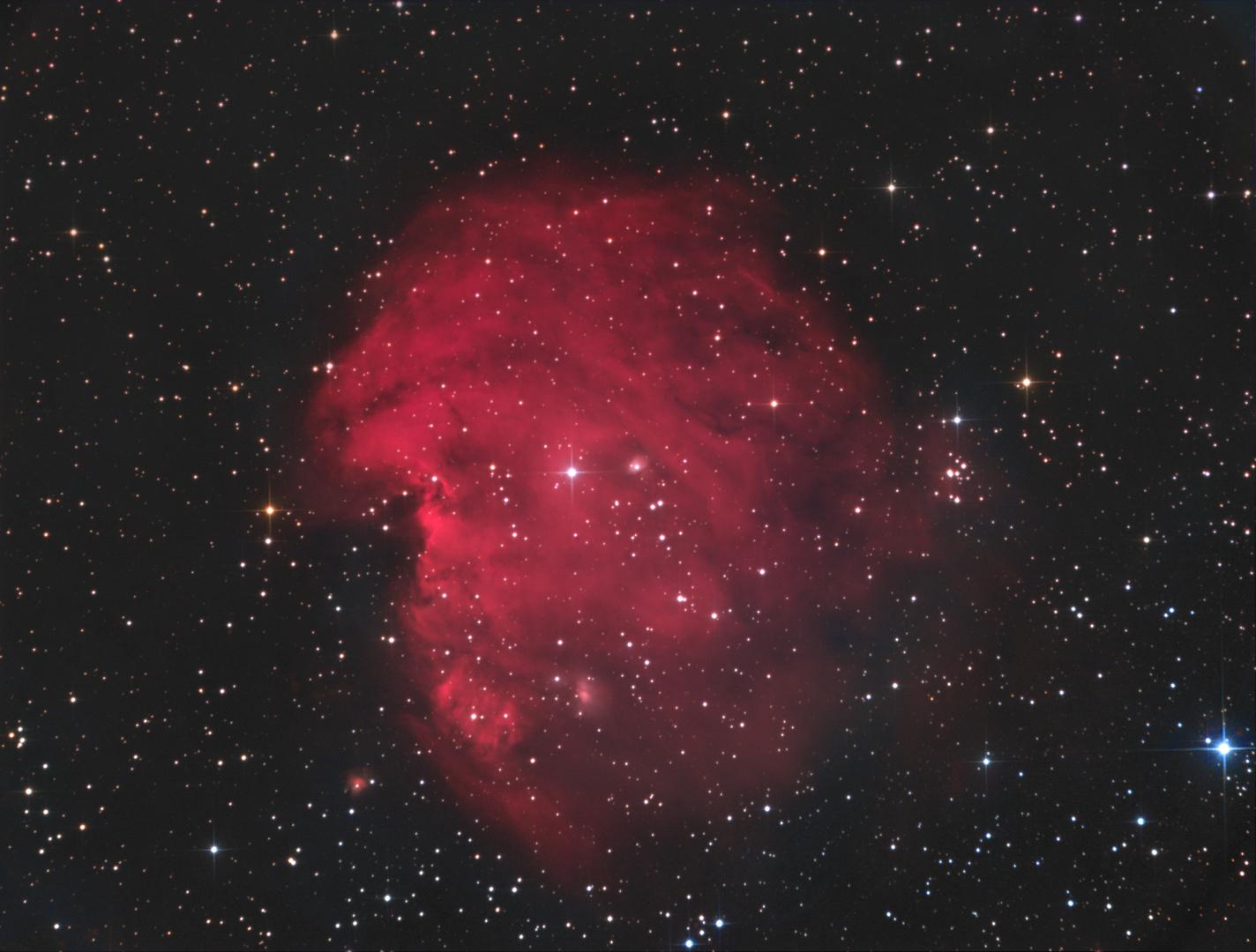 Der Affenkopf-Nebel NGC1274 im Sternbild Zwillinge