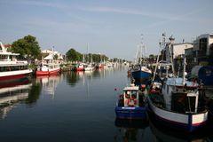 Der alte Bootshafen in Warnemünde