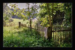 Der alte Gartenzaun