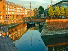 Der alte Hafen in Düsseldorf