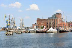 Der Alte Hafen in Wismar während des Hafenfestes 2018