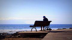 Der alte Mann am Meer