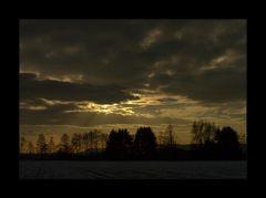 Der alte Meister, die Natur... - oder: Abend-Schauspiel über dem Wesertal...