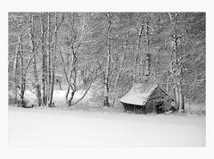 der alte Schuppen....  im Winter