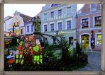 Der Altmarktbrunnen vor der Historischen Apotheke