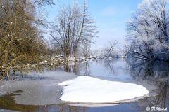 Der Amperstausee im Winter