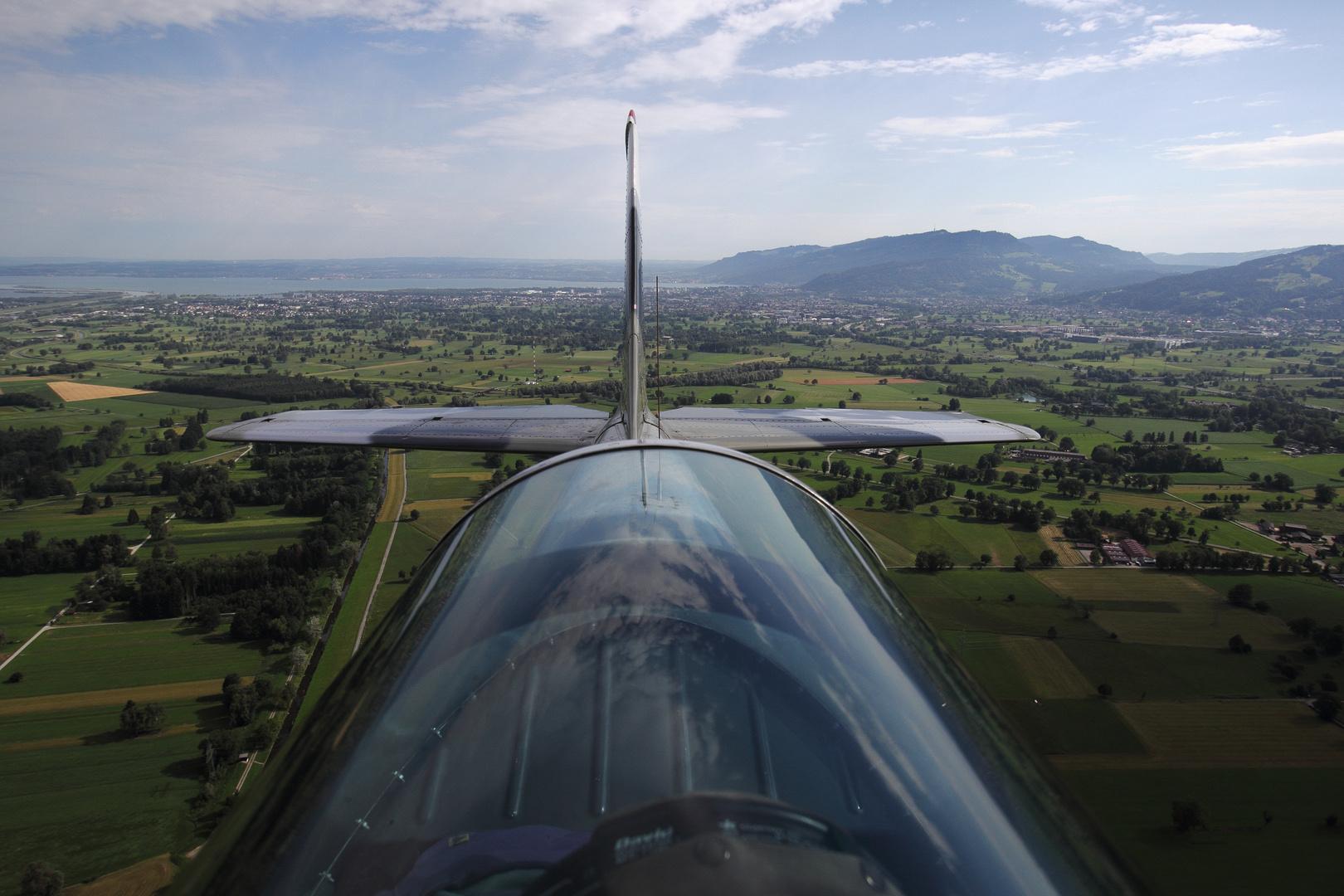 der andere Blick ... YAK 52 -  Flug Hohenems 7 7 17