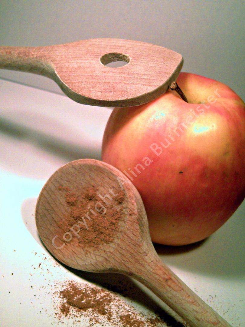 Der Angezimtete Apfel.