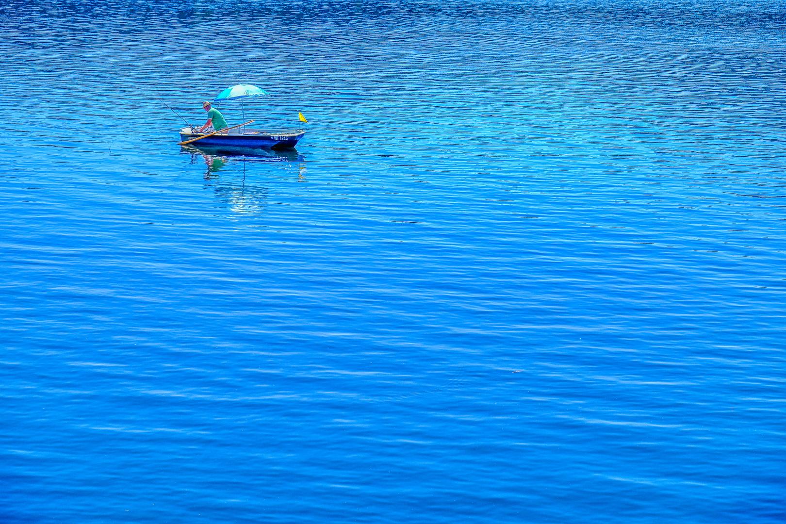 Der Angler am Schluchsee