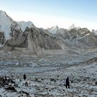 Der Aufstieg zum Kala Pattar am frühen Morgen