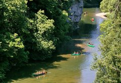Der Ausblick vom Amalienfelsen auf die Donau