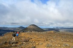 Der  Aussichtspunkt zum Vulkanausbruch am Fagradalsfjall