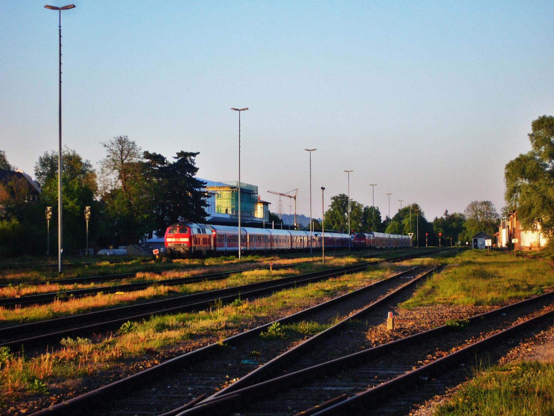 Der Bahnhof...