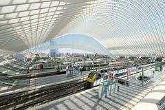 Der Bahnhof ... wartende Züge