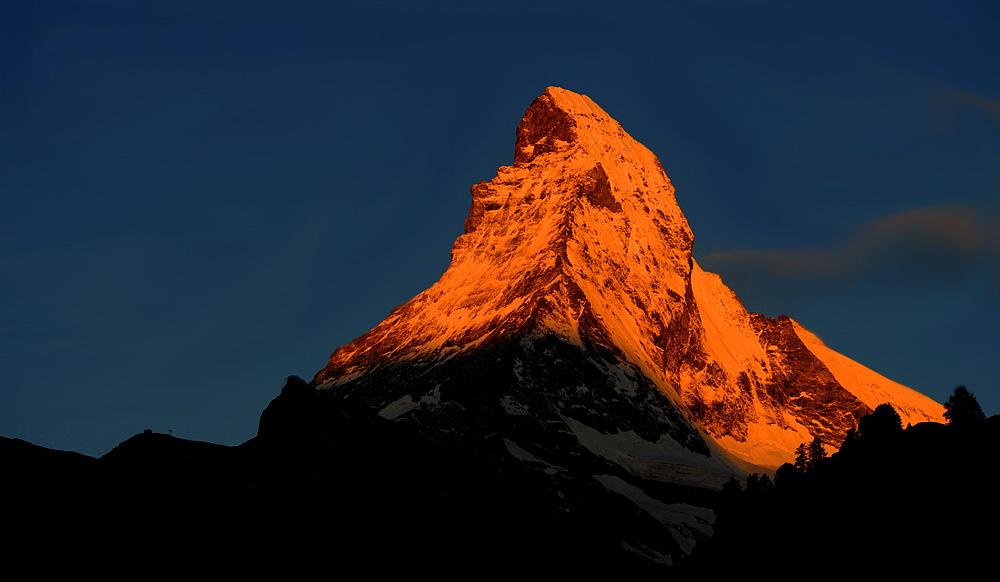 Der Berg brennt.......