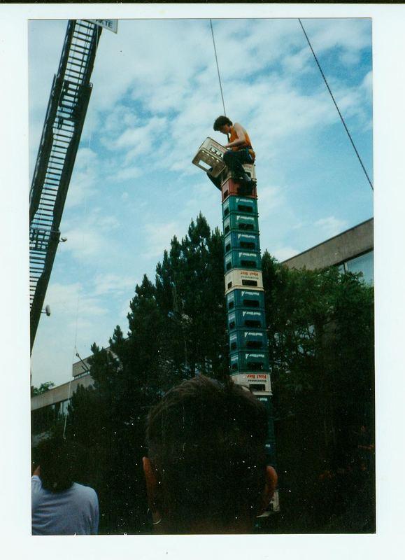 Der Bierkasten-Turmbauer - Sieger