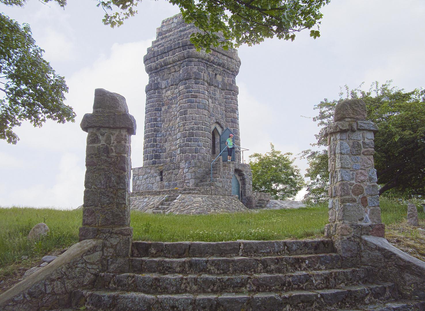 Der Bismarckturm von Klein Mutz in Brandenburg/Oberhavel bei Zehdenick