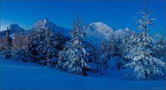 Der blaue Schnee