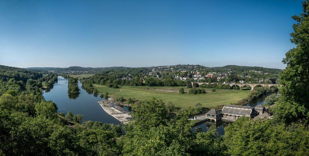 Der Blick ins Ruhrtal