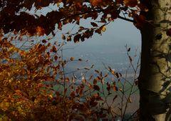 °°° Der Blick von der Augustusburg ins herbstlich-neblige Umland °°°