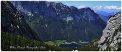 Der Blick von der Blaueishütte auf den schönen Hintersee