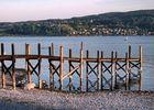 Der Blick von der Reichenau über den Untersee in die Schweiz