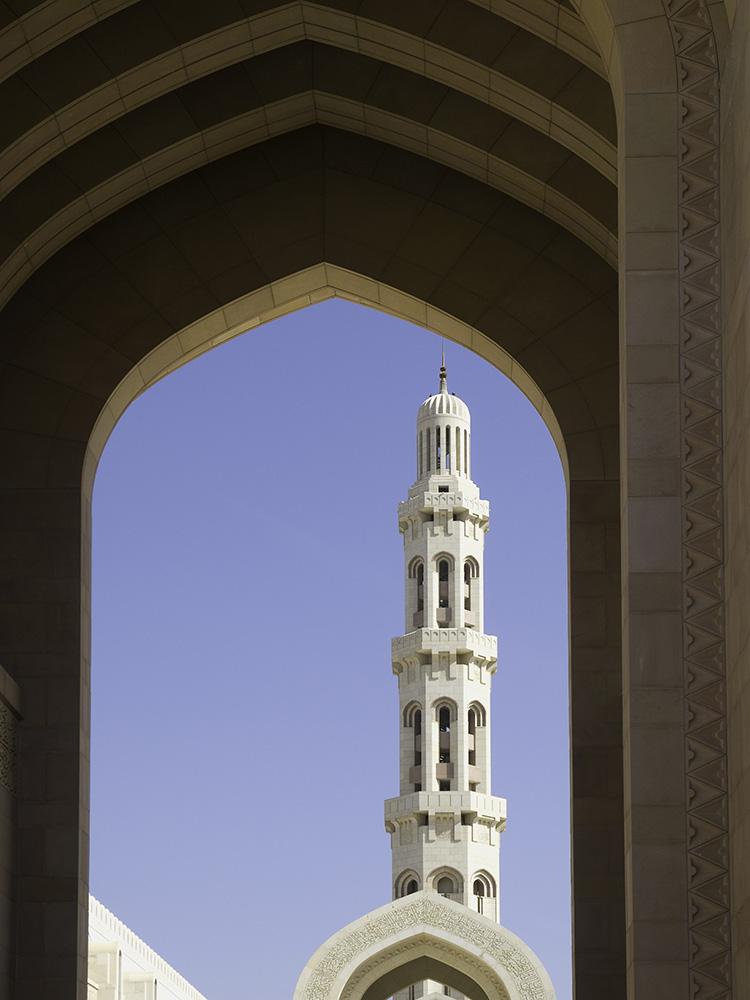 Der Blick zum Minarett