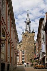 Der Blick zum Rathaus Aachens
