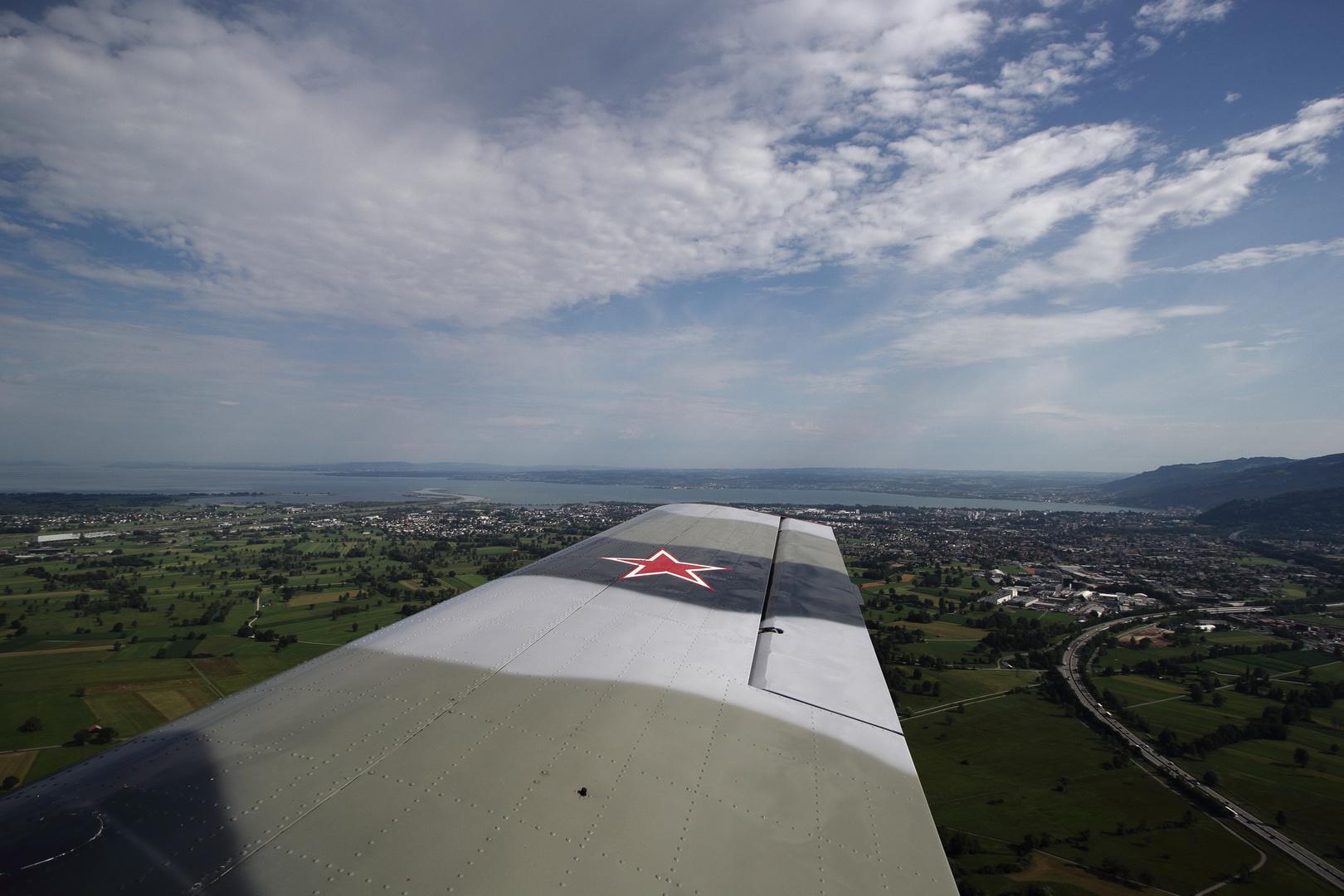 der Bodensee - YAK 52 Flug nach Hohenems 7 7 17