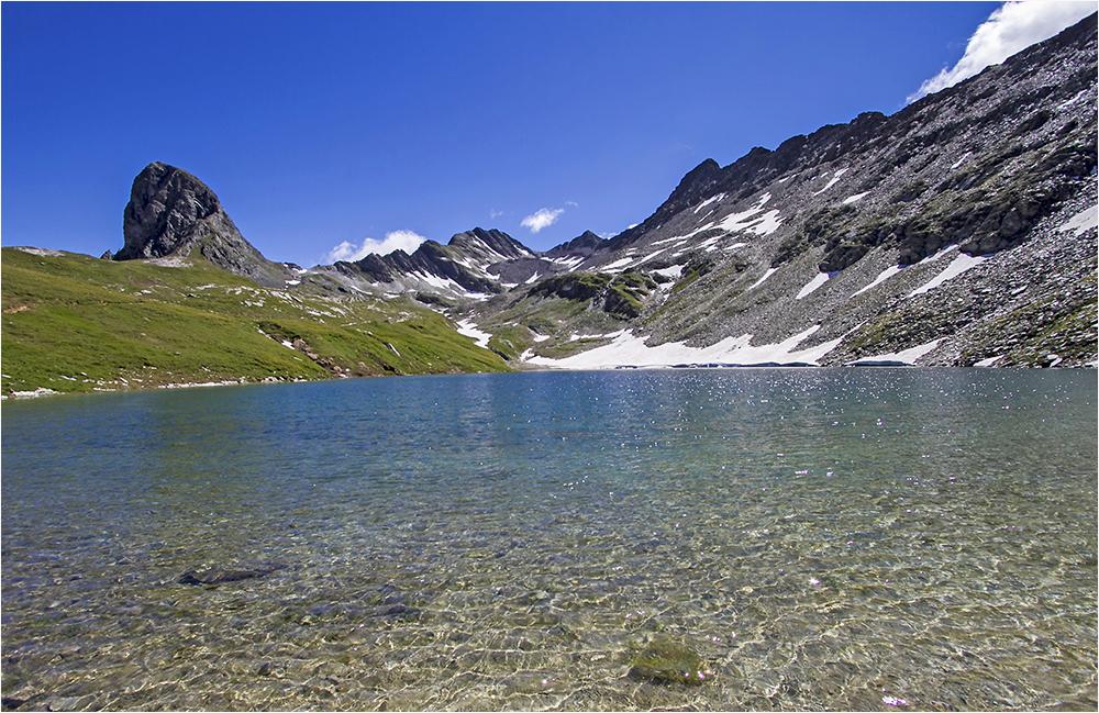 der Bödensee bei der Neuen Reichenbergerhütte