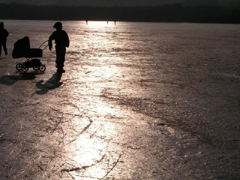 Der Bostalsee im Winter