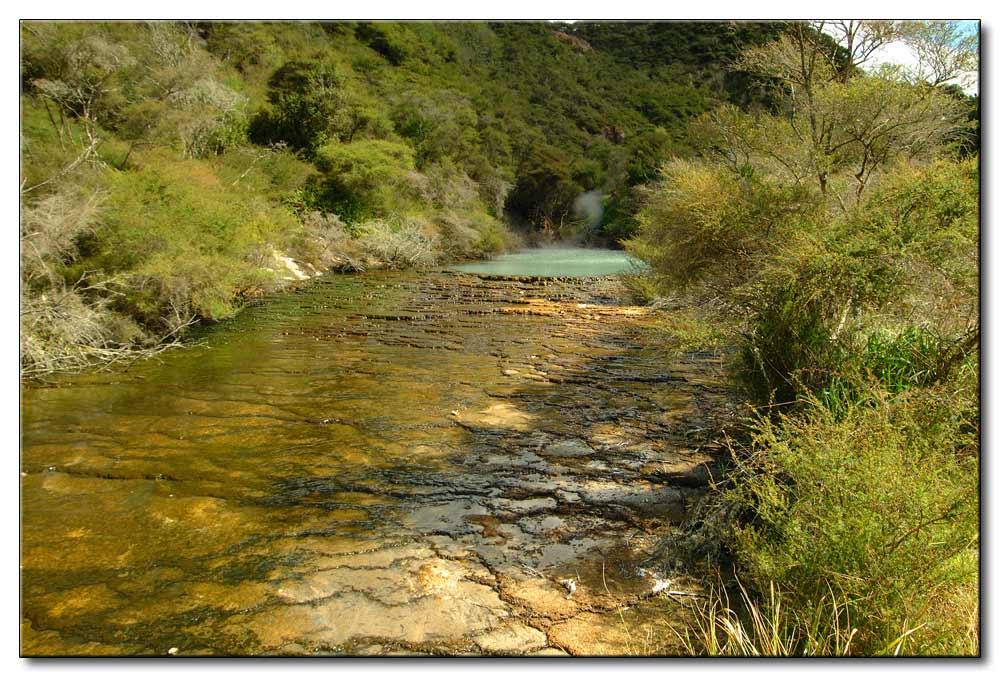 der braune Fluß aber Heiß