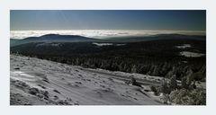 """der Brocken """" der höchste Berg Norddeutschlands, mit Blick zum Wurmberg """""""