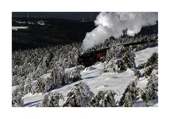 """der Brocken """" der höchste Berg Norddeutschlands, und die Brockenbahn """""""