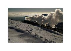 """der Brocken """" die Brockenbahn, kurz vor dem ZIEL """""""