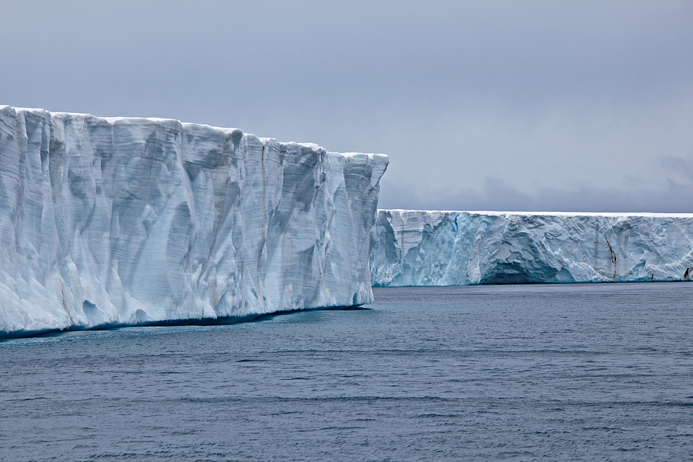 Der Bråsvellbreen Gletscher, Svalbard