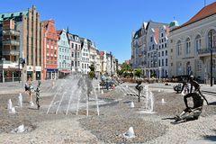 "Der ""Brunnen der Lebensfreude"" in Rostocks Innenstadt"