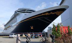 Der Bug des Kreuzfahrtschiffes DISNEY DREAM