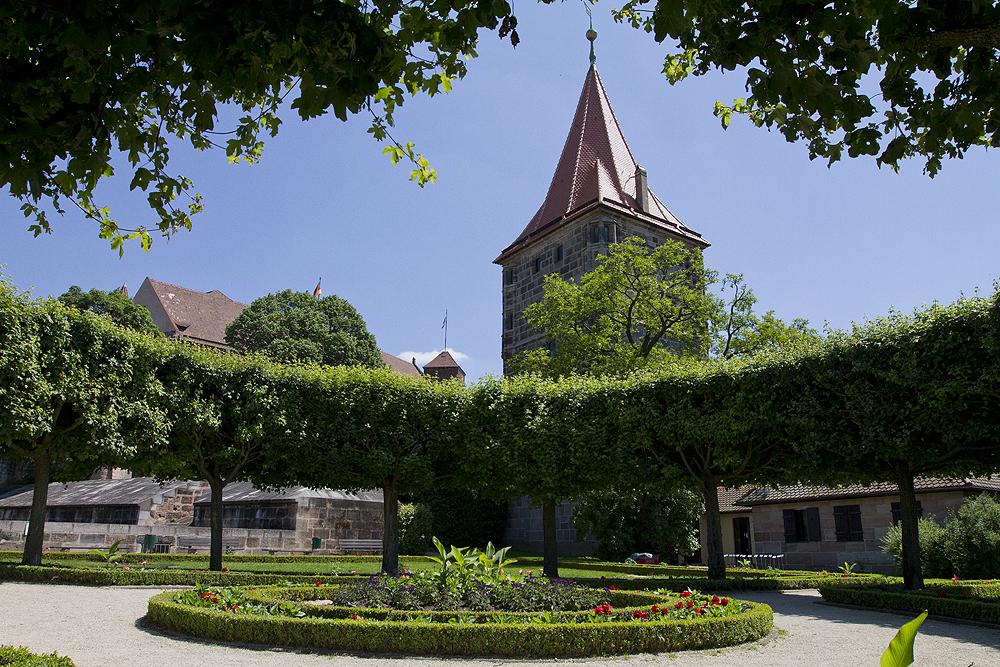 Der Burggarten in Nürnberg