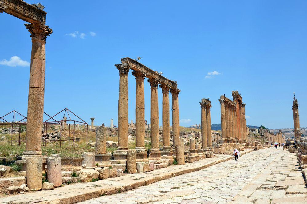 Der Cardo Maximus in Jerash