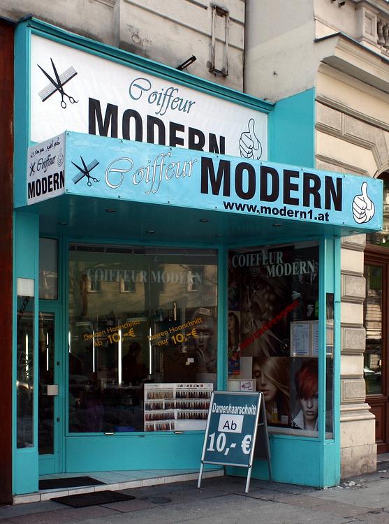 Der Coiffeur Modern In Der Praterstrasse Foto Bild Europe