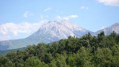 Der Corno Grande 2912 m hoch in den Abruzzen