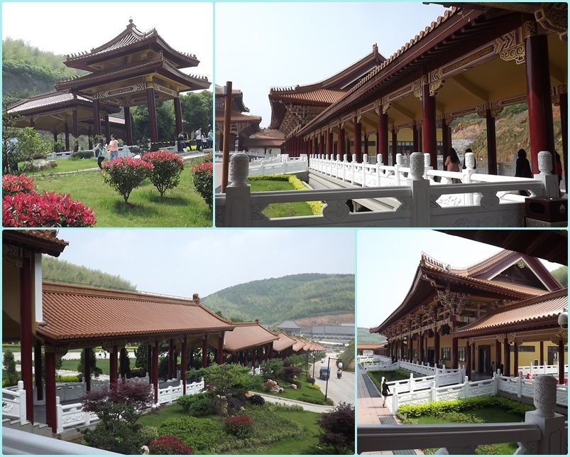 der Da Yue Tempel , 120km suedlich von Chang Zhou - gelegen  am  Heng Shan Stausee ;