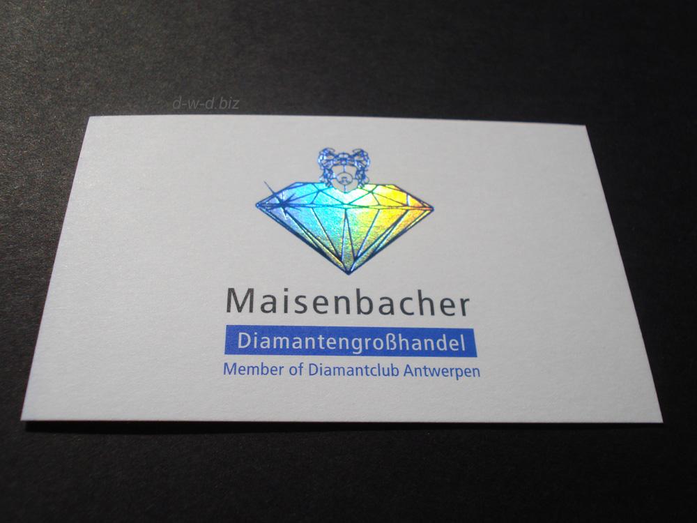 Der Diamant auf Visitenkarte