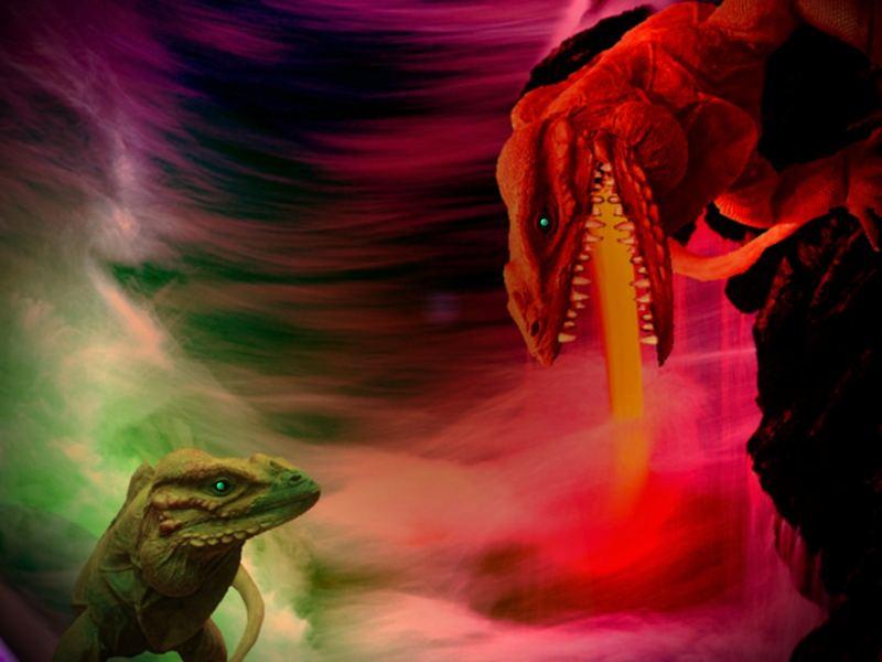 Der Drachen hats mit dem Rachen