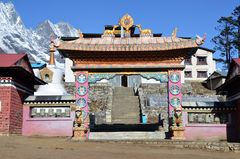 Der Eingang zum buddhistischen Kloster von Tengpoche