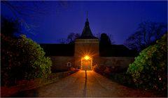 Der Eingang zum Schloss Arcen