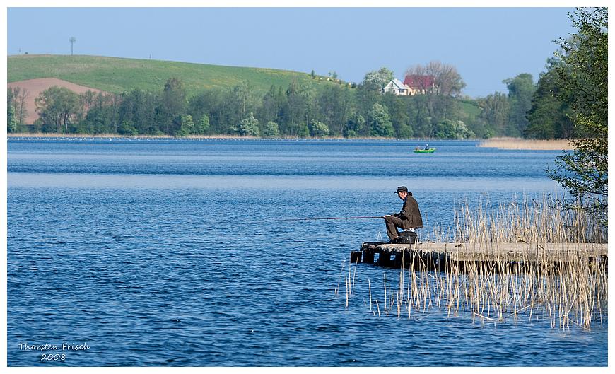 Der einsame Angler