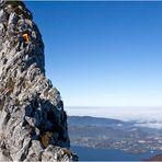 Der einsame Ostgrat auf den Traunstein (1691m)